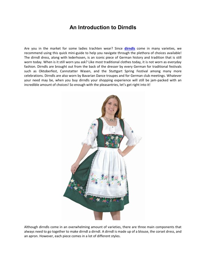 an introduction to dirndls n.