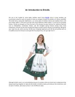 an introduction to dirndls