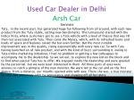 used car dealer in delhi 2
