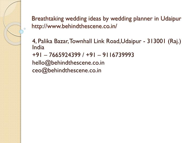 breathtaking wedding ideas by wedding planner in udaipur http www behindthescene co in n.