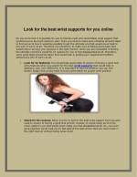 look for the best wrist supports for you online