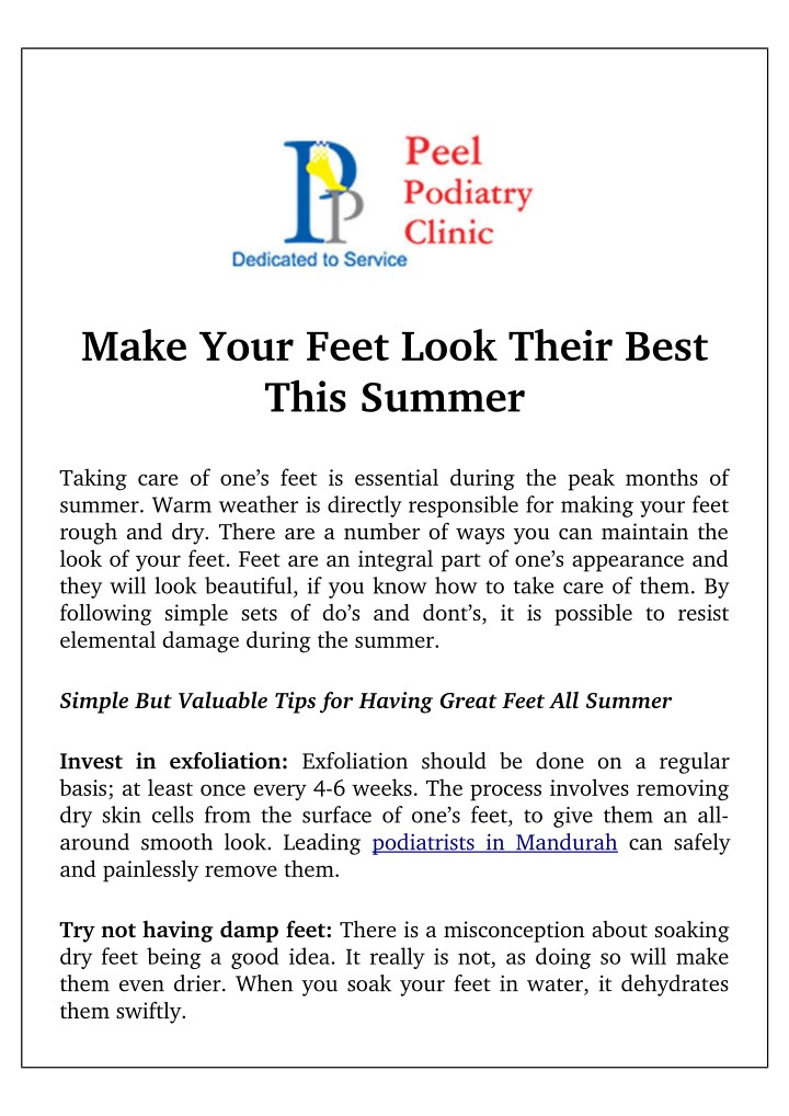 make your feet look their best this summer n.