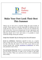 make your feet look their best this summer