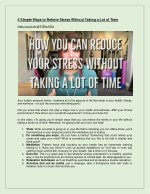 6 simple ways to relieve stress without taking
