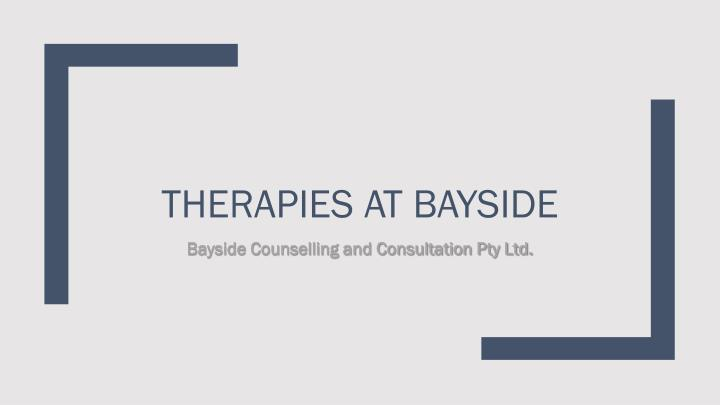 therapies at bayside n.