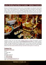 indian wedding food menu in london sukhdev