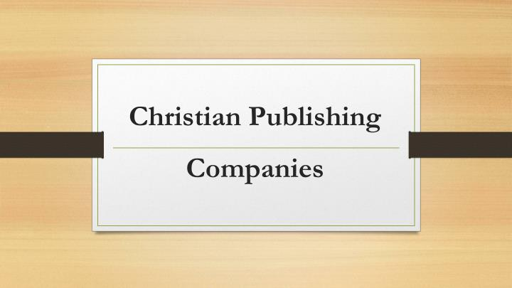 christian p ublishing companies n.