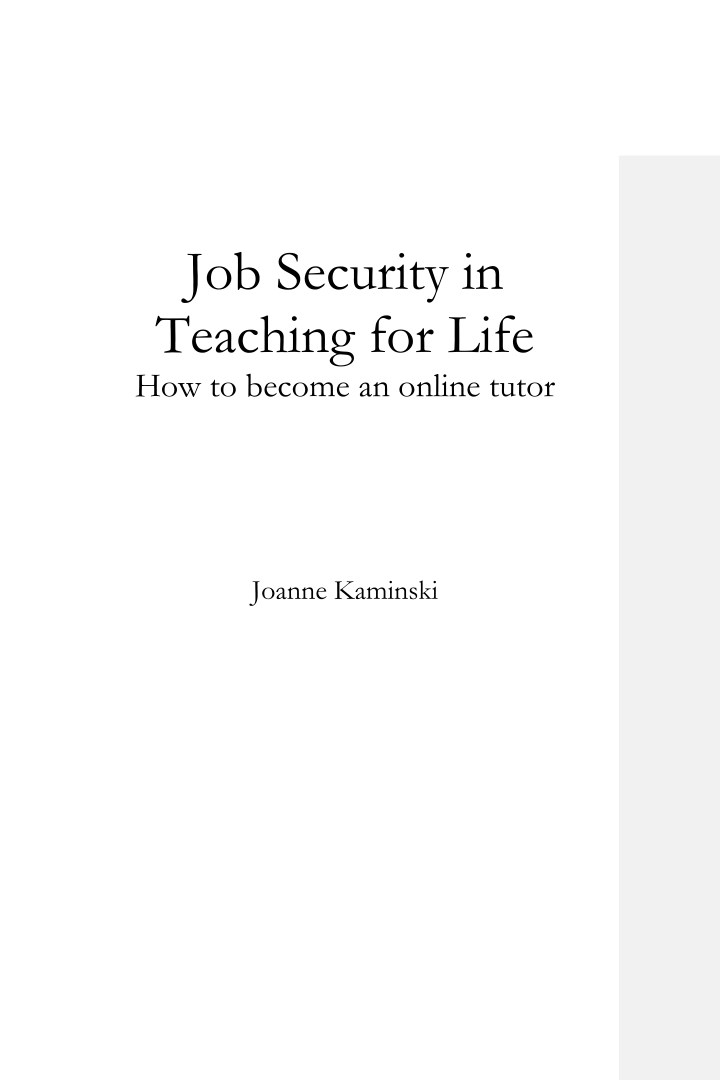 job security in teaching for life how to become n.