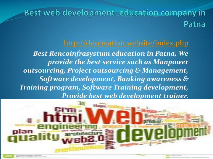 best web development education company in patna n.