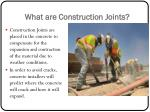 what are construction joints