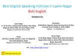 best english speaking institute in laxmi nagar 4