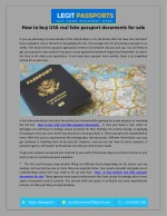how to buy usa real fake passport documents