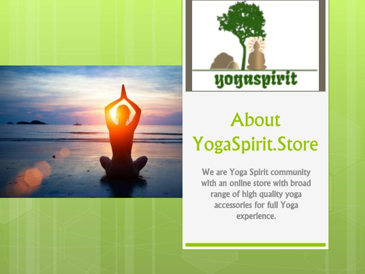 about yogaspirit store n.