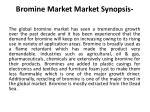 bromine market market synopsis