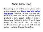 about gadzetking