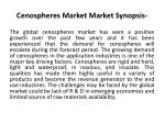 cenospheres market market synopsis