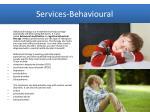 services behavioural
