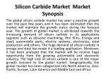 silicon carbide market market synopsis