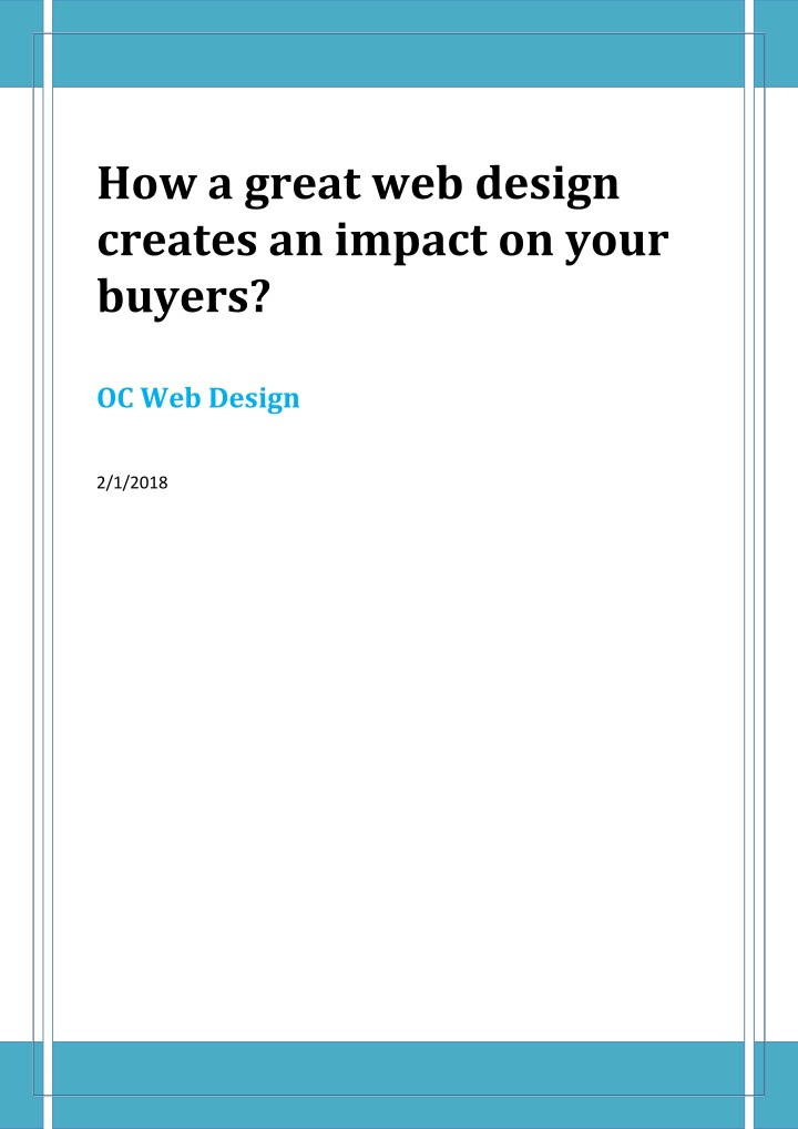 how a great web design creates an impact on your n.