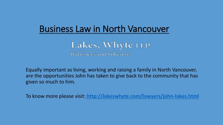 business law in north vancouver n.