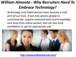 william almonte why recruiters need to embrace technology 1