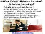 william almonte why recruiters need to embrace technology 2