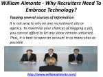 william almonte why recruiters need to embrace technology 6