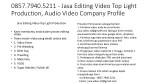 0857 7940 5211 jasa editing video top light