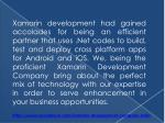 xamarin development had gained accolades