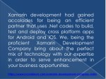 xamarin development had gained accolades