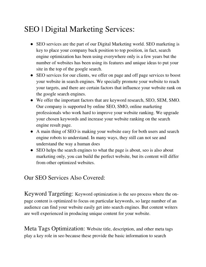 seo digital marketing services seo services n.