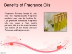 benefits of fragrance oils