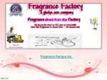 fragrance factory inc