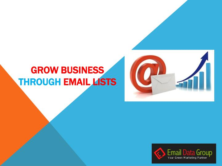 grow business through email lists n.