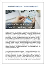 mobile clients require a mobile booking engine