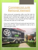 commercial junk removal vermont
