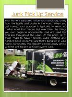 junk pick up service