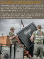 junk removal houston texas