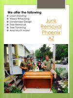 junk removal phoenix az