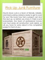 pick up junk furniture