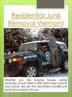 residential junk removal vermont