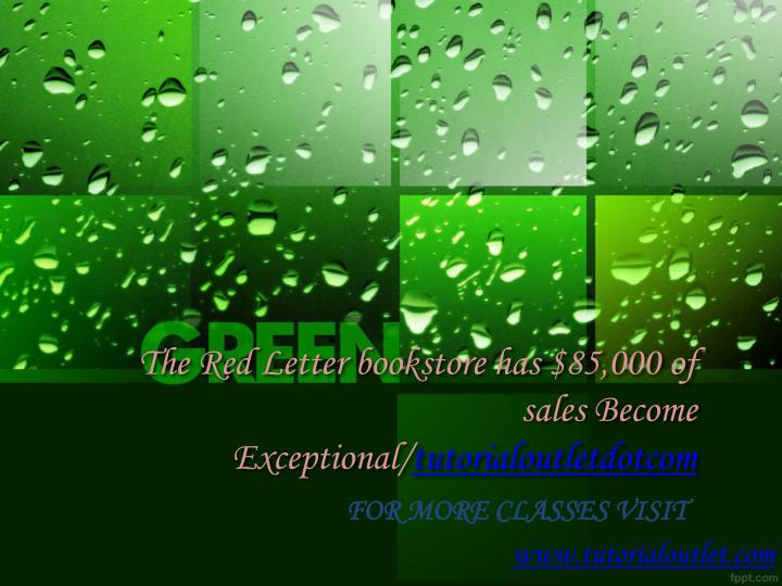 the red letter bookstore has 85 000 of sales become exceptional tutorialoutletdotcom n.