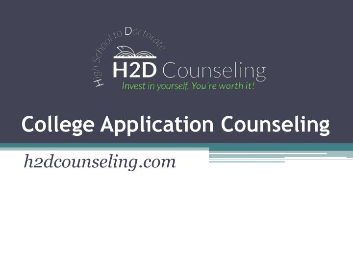 college application counseling n.