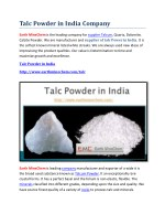 talc powder in india company