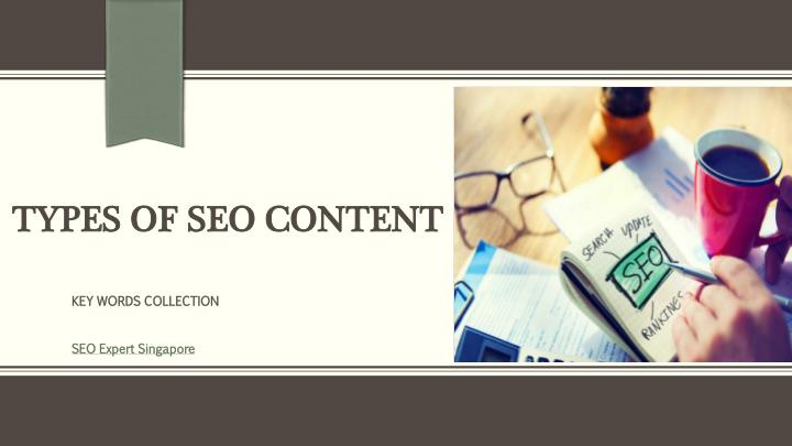 types of seo content n.