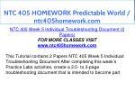 ntc 405 homework predictable world ntc405homework 13
