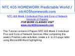 ntc 405 homework predictable world ntc405homework 7