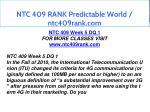 ntc 409 rank predictable world ntc409rank com 17