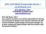 ntc 409 rank predictable world ntc409rank com 2