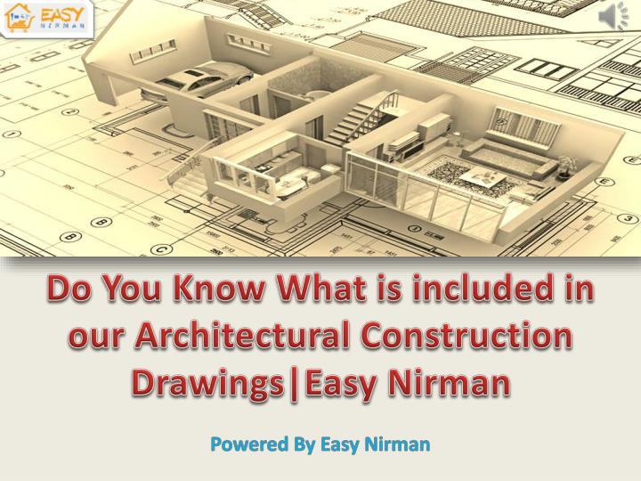 do you know what is included in our architectural n.